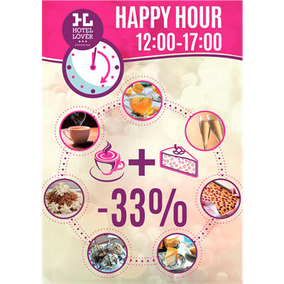 Happy Hours and new daily special offers in the restaurant